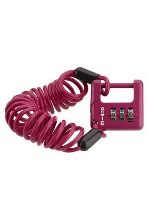 Кодовый замок для самоката , велосипеда , беговела Micro розовый AC4105