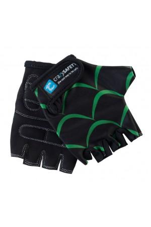 """Перчатки детские защитные (без пальцев) - Crazy Safety - Black Dragon (чёрный дракон) - """"S"""" - 7см для беговела - самоката или велосипеда"""
