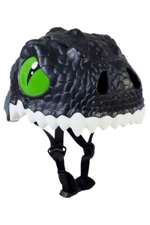 Шлем детский Black Dragon Crazy Safety 2017 (чёрный дракон-динозавр) детский для мальчика чёрный динозавр