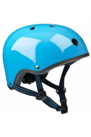 Шлем защитный Micro (Голубой неон