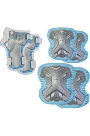 Комплект защиты 3 в 1 (синий) наколенники - налокотники - налодонники