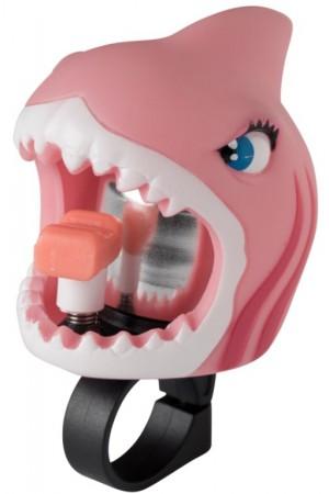 Звонок Pink Shark by Crazy Safety (розовая акула) на самокат - велосипед