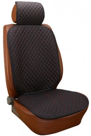 Защита низа и спинки сиденья от проминания с отверстиями под ISOFIX - Royal Accessories - Premium - для автокресла - с красной прострочкой