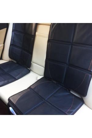 Защита низа и спинки сиденья от проминания с отверстиями под ISOFIX - Royal Accessories - для автокресла - с красной прострочкой